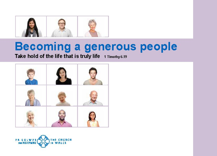 Becoming a Generous People