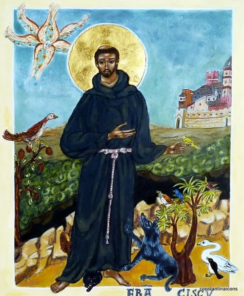 Icon of St Francis by Constantina Alexander
