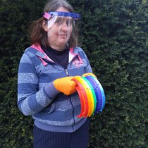 Rebecca with rainbow face visors sm.jpg