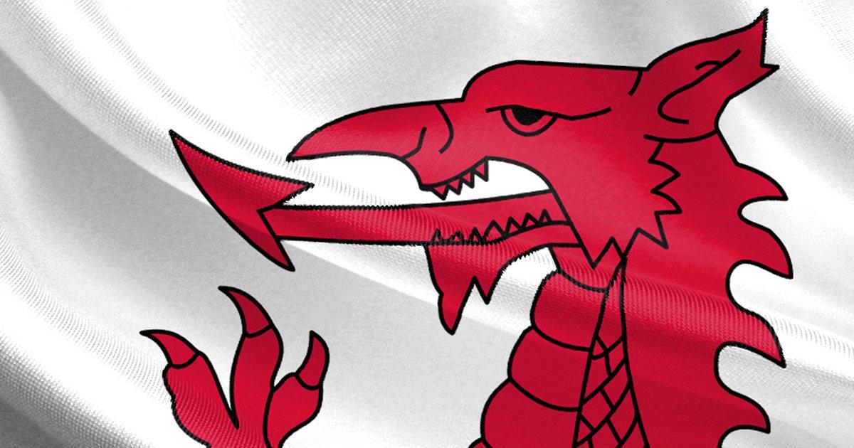 Welsh flag dragon's head
