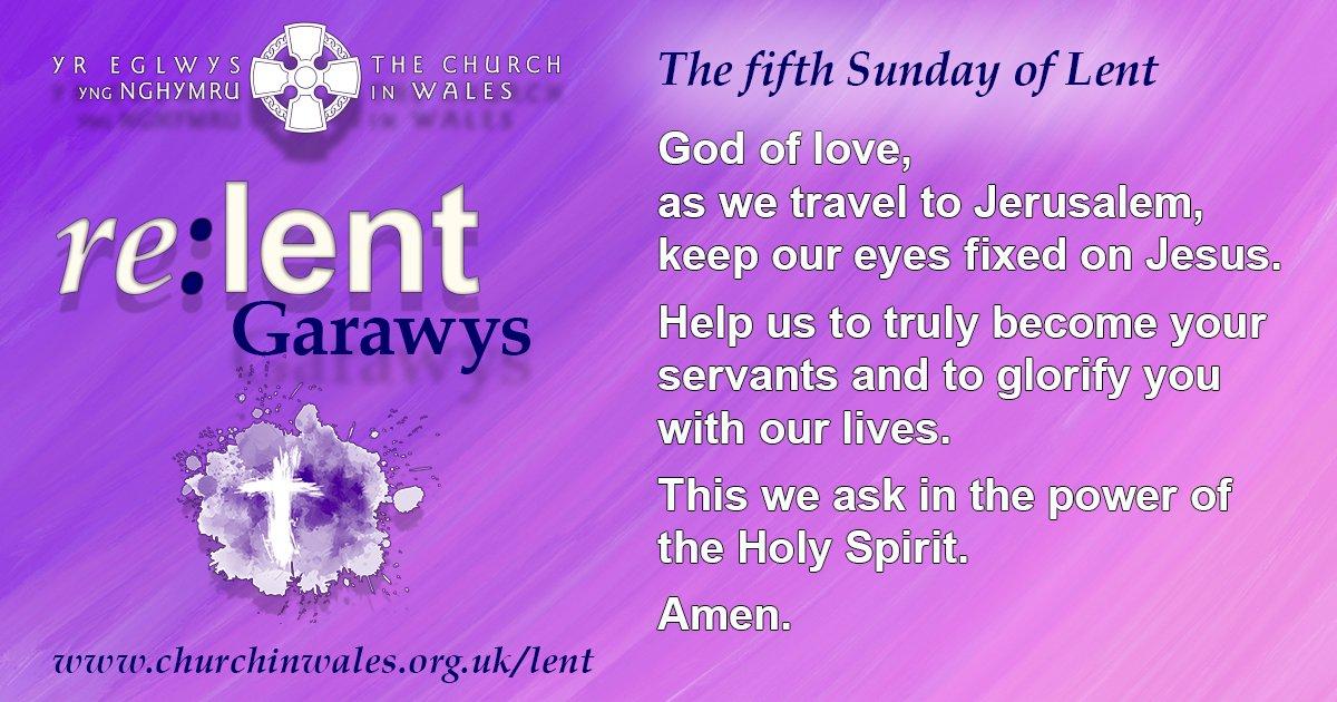 The Fifth Sunday of Lent Prayer
