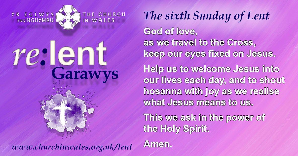 Lent 6 prayer